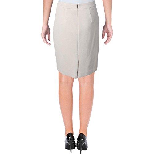 Hugo Boss BOSS Womens Herringbone Lined Pencil Skirt Tan 4 by Hugo Boss (Image #1)