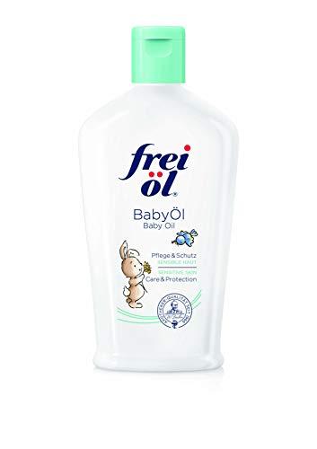 frei öl BabyÖl, essbar, 100 Prozent natürliche Inhaltsstoffe; begleitend bei Neurodermitits (Babys, Kinder, Erwachsene), parfümfrei, schützt vor Wundwerden, von Hebammen empfohlen, vegan (1x140 ml)