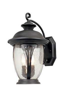 Bronze w/seedy glass 3 Light 11in. Wall Lantern from the Westchester Collection