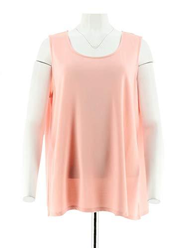 Dennis Basso Essentials Knit Scoop Neck Tank Blossom Pink M New A292087