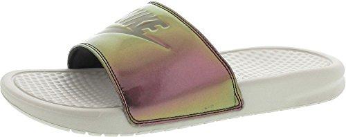 Nike Wmns Benassi Jdi Print Donna 618919-013 Osso Leggero / Oliva Medio