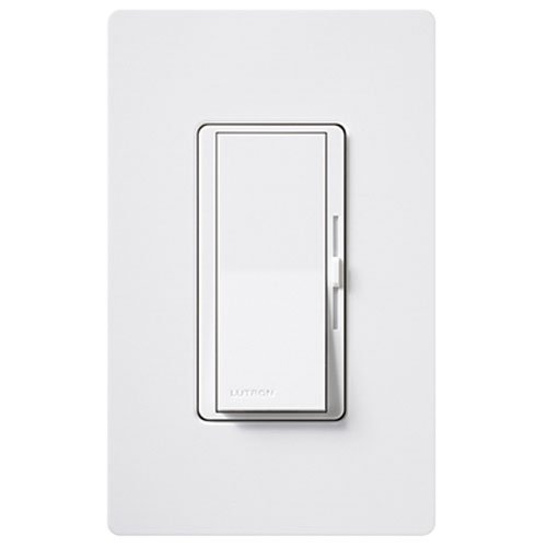 Lutron DVW 603PGH WH eco dim 600 Watt Dimmer product image