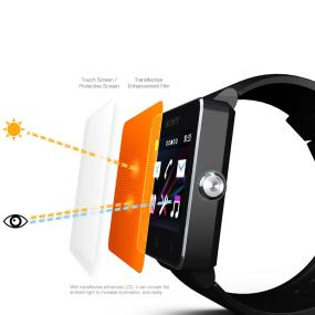 The transflective screen provides a better readability in bright sunlight