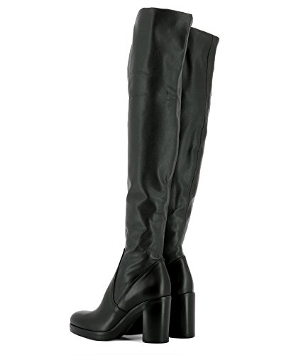 Strategia Women's P2021DNERO Black Leather Boots RuOXB3K