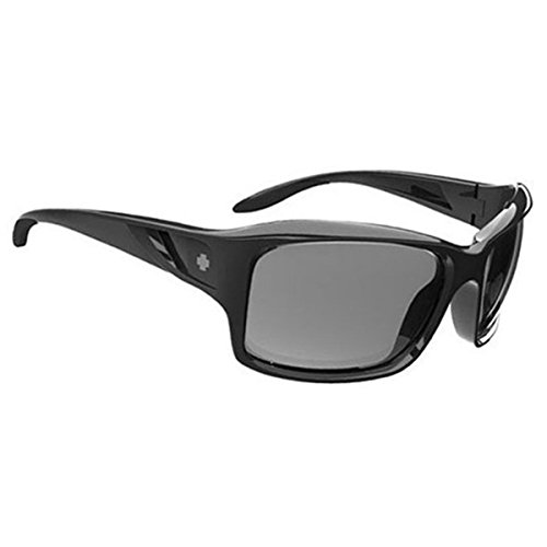 Spy Optics Women's Libra Black - Grey Polar Wrap Polarized Sunglasses,Black,60 - Scoop Spy Sunglasses