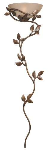Kenroy Home 20624GLBR Flower Vine Wallchiere Lamp, 52 Inch Height, 15 Inch Width, 6.5 Inch Extension, Golden Bronze