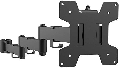 WALI Universal Single Fully Adjustable 3 Tier Arm for WALI Monitor Mounting System 001ARMXL , Black