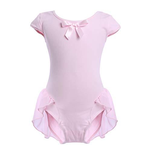 OBEEII Toddler Kid Girl Cap Sleeve Ballet Dress High Low Skirted Leotard Ballerina Gymnastic Dancewear Activewear Costume Celebration of Spirit Ballet Dance Class Pink 18-24 Months