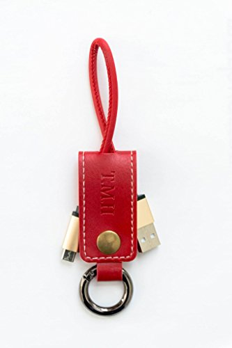 leather-keychain-micro-usb-cable-charger-tmh-data-cable-for-android-phones-red