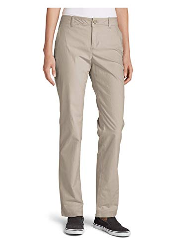Eddie Bauer Women's Adventurer Stretch Ripstop Pants - Slightly Curvy, Pumice R,14,Pumice (Grey) ()