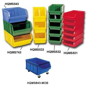 Quantum Storage Systems, Mobile Magnum Bin - With Casters, Hqms-843-Mob, Outside Dimensions L X W X H: 29 X 18 3/8 X 11 7/8