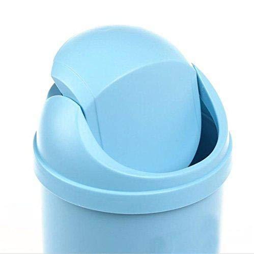 Depory Mini Cestino Shaking immondizia Creative Desktop per Cucina casa o Ufficio scrivania Storage Box Blu