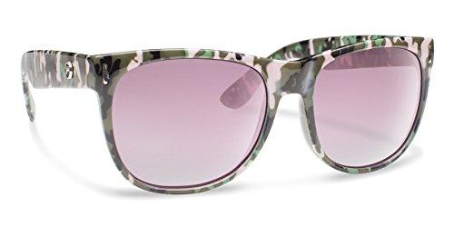 Forecast Optics Women's Avery Sunglasses, One Size, Pink Green Camo Frame, Pink Gradient Lens ()