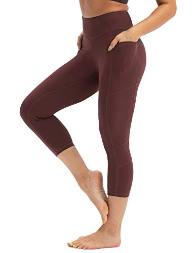coastal rose Women's Yoga Pants 3/4 Workout Leggings Crop Sports Tights Port Royale M