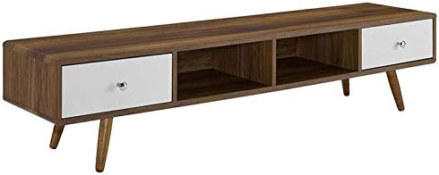 Levan Home 70″ Mid-Century Modern TV Stand Console