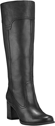 Timberland Women's Atlantic Heights Pull-On Tall Boot Black 7 B US