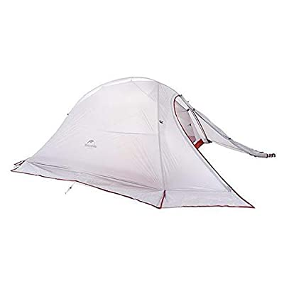 RT 2-Person Grey with Skirt Double-Layer Silicone Fabric Outdoor Tent: Garden & Outdoor