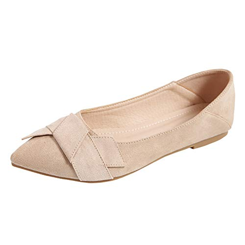 FLYRCX Zapatos cómodos del Trabajo de la Manera Casual de la Primavera y del otoño de los Zapatos Planos de la Boca Baja, 38 UE 37 EU