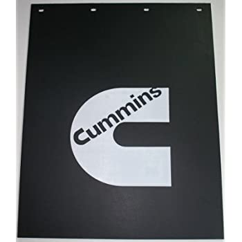 RUBBER cummins truck mud flaps mudflaps dually cummings REAR semi guard 24x24