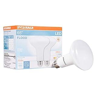 SYLVANIA General Lighting 78029 Sylvania Dimmable Led Light Bulb, 9 W, 120 V, 650 Lumens, 3500 K, CRI 80, 3-3/4 in Dia X 5 in L, Medium Base, Efficient 9W, 3500K, Bright White, 2 Piece