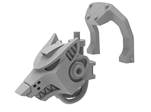 shapeways Unofficial Warhammer 40K Mini Knight Wolf Cowl for Imperial Knight Armiger Warglaive Miniature Wargaming Model Figures, Smoothest Fine Detail Plastic