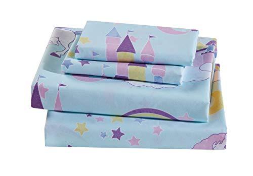 Luxury Home Collection Kids Sheet Set Unicorn Castle