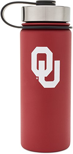 Simple Modern University of Oklahoma 18oz Summit Water Bottle - Vacuum Insulated Stainless Steel Boomer Travel Mug - Sooners OU Tailgating Hydro Cup College Flask - Crimson Oklahoma Sooners Stainless Travel Mug