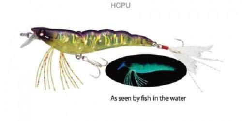 "3 lures yo zuri shrimp f988-hcpu 3 1//2/"" 7//16oz ultra violet chartreuse purple"