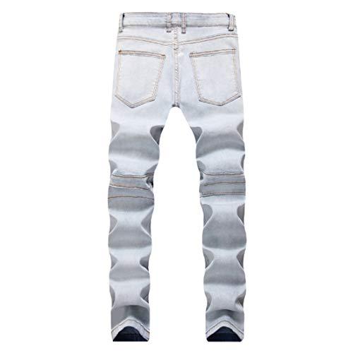 Hommes Rétro Un Pantalon Motorcycle Aiweijia Affligé 1799 Tout Mode Droit Décontractée Jeans wFHpa