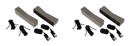 attwood 11438-7 Universal Rack-Free Car-Top Kayak Carrier Kit with Supporting Foam Blocks (2-(Pack)) by attwood
