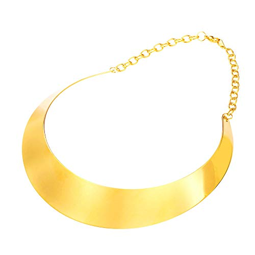 U7 Simple Style Women Torque Necklace 18k Gold Plated Choker Bib Necklaces Statement Jewelry (Metal Choker Necklace)