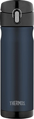 Thermos 16 Ounce Stainless Steel Commuter Bottle, Midnight Blue