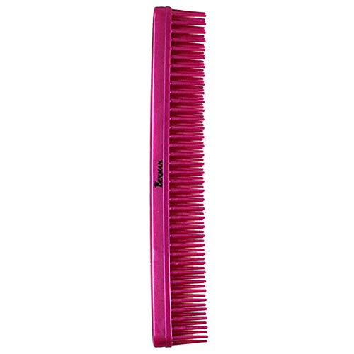 Denman 3 Row Hair Comb D12 for Detangling & Teasing – Professional Hair Styling Teasing Brushes for Wet Hair Combing - Metallic Silver
