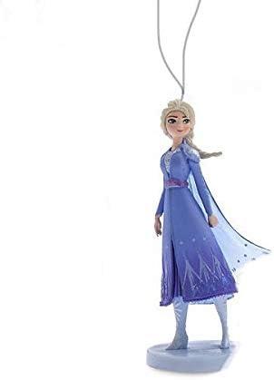 "Disney Elsa Snow Queen in Blue Dress 4"" Custom Holiday Christmas Tree Ornament PVC Figure Figurine"