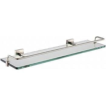 Danze D446134BN Sirius Glass Shelf, 18-Inch, Brushed