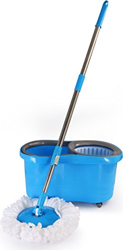 Microfiber Spin Mop Cleaning System with Easy...
