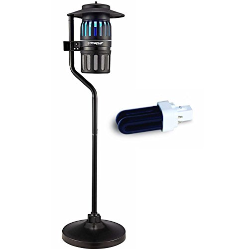 Dynatrap DT1260 1/2 Acre Outdoor Insect Trap with Pole and extra replacement bulb by Dynatrap