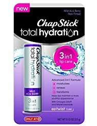 - ChapStick® Total Hydration 3 in 1 Lip Balm - Wild Acai Berry Flavor - 2 Pack