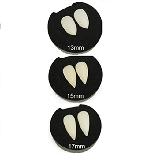 Cinhent Toys, 1 Pairs False Vampire Teeth Fangs Dentures Props Halloween Decoration Costume Props Party Favors, 2018 Role Play Pretend Kids Adults Funny Popular Tricky Toy (13MM+15MM+17MM)