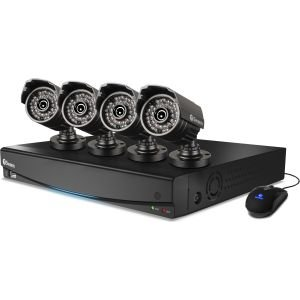 Swann 8-Channel 960H Digital Video Recorder w/ 4 x 720 TVL Cameras and Pre-Installed 1TB Hard Drive : SWDVK-8342T4S-US