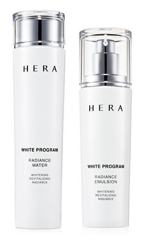 FREE INTERNATIONAL SHIPPING + HERA White Program Radiance Water (All Skin/ 150ml) and Emulsion (All Skin /120ml) by HERA Amore Pacific