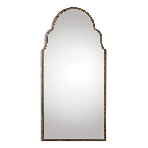 (Uttermost 12905 Brayden Tall Arch Mirror, Bronze)
