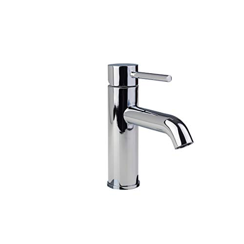 1H13-CHR Modern Contemporary Euro Single Hole Single-Handle Bathroom Lav Wash Basin Faucet Tap IAPMO and CUPC certified in Chrome (Single Hole Lav Faucet)