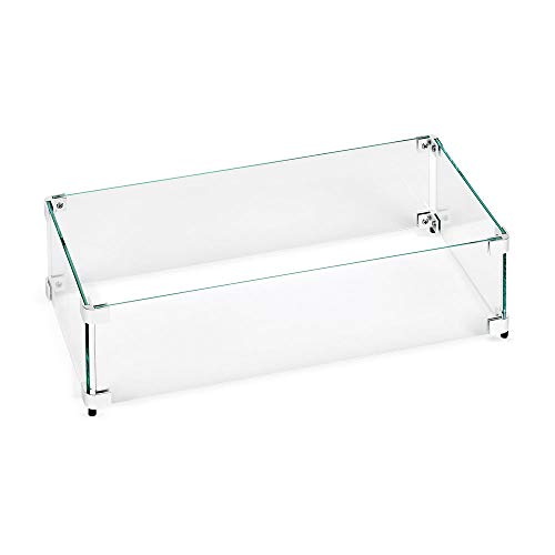 American Fireglass Tempered Glass Flame Guard for 30