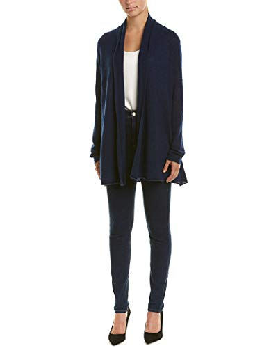 White Warren Cashmere Cardigan - White + Warren Womens Long Cashmere Cardigan, S Navy