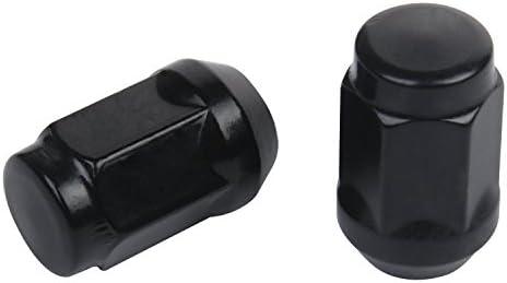 ZY ホイールセット ブラック 1/2-20 クローズドエンドバルジ ドングリラグナットコーンシート 3/4インチ 19mm 六角ホイールラグナット ジープチェロキーCJ5 CJ7 コマンダー リバティ ラングラー