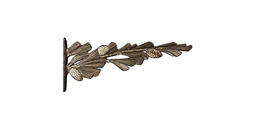 Whitehall Products, Pinecone Aluminum Nature Hook 30256, 7 inches high by 16 inches deep, french bronze