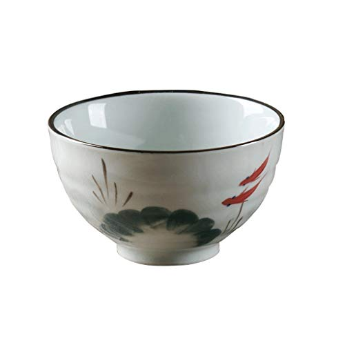 DWOLE Creative ceramic hand-painted fish Xiao used in salads, noodles, rice, fruit,