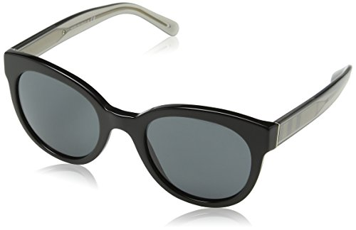 Burberry BE4210 300187 Black BE4210 Round Sunglasses Lens Category 3 Size - Trend Burberry