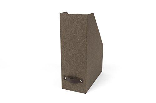 Craftworks Magazine (Bigso Estelle Canvas Paper Laminate Magazine File Storage Box, Dark Brown)